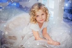 Christmas angel, photo shoot for girls / Olga Solomennikova photography