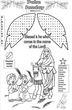 easter activities for sunday school Sunday School Activities, Sunday School Lessons, Sunday School Crafts, Palm Sunday Craft, Palm Sunday Lesson, Preschool Bible, Bible Activities, Easter Activities, Bible Games