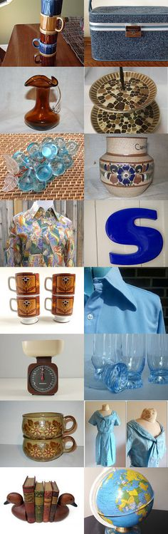 Blue Skies And Earth Tones With TeamKItsch. by livingavntglife on Etsy--Pinned with TreasuryPin.com