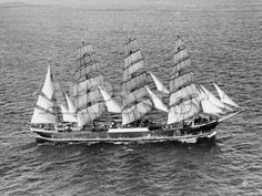 Barque Pamir in the English Channel after a 13,000 Mile Journey from Wellington, New Zealand Transportation Photographic Print - 61 x 46 cm