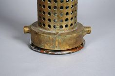 Industrial or Machine Age Brass Table Lamp 4