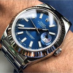 Amazing blue dial on this Rolex Datejust shot by 🔵 Rolex Watches For Men, Luxury Watches For Men, Rolex Datejust, Rolex 116234, Vintage Rolex, Vintage Watches, Stylish Watches, Cool Watches, Best Looking Watches