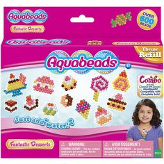 Aquabeads Sweets Theme Set and thousands more of the very best toys at Fat Brain Toys. Aquabeads are an innovative line of bead art crafting sets that allow young girls to design unique creations to collect or give as gifts. This themed refill set gets kids designing all sorts of candies, ice creams, and sweet treats!