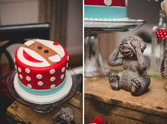 Sock Monkey Themed First Birthday Party