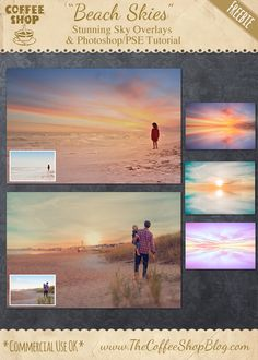 "The CoffeeShop Blog: CoffeeShop""Beach Skies"" Overlay Set and Photoshop/..."