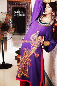 Latest Zahra Ahmad Eid Dresses 2012 For Women