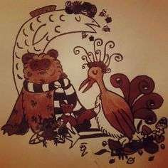 Guardians of the Seasons; Seasons After Fall (Swing Swing Submarine, 2016); Size: B5; Technic: ink & mordant dye