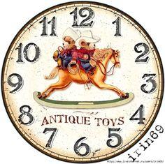 2 (700x698, 400Kb)                                                                                                                                                      More Clock Face Printable, Handmade Clocks, Face Images, Diy Clock, Shabby, Decoupage Paper, Antique Toys, Vintage Images, Vintage Prints