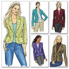 Butterick Pattern Misses' Jacket, AA (6, 8, 10, 12)