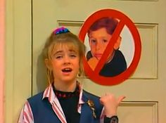 """Clarissa Explains It All    Loved her """"No Ferg Face"""" sign."""