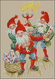 Gallery.ru / Фото #1 - Cuadro 15 - cnekane    Xmas gnomes  chart