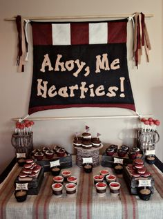 Pirate Birthday Party - Click image to find more Wedding & Events Pinterest pins