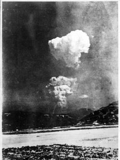 A rare photo showing the mushroom cloud from the Hiroshima atomic bombing in two distinct parts, one above the other. The black-and-white picture is believed to have been taken about half-an-hour after the bombing on August 6, 1945, around 10 kilometres east of the hypocentre.