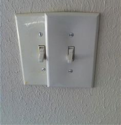 The double switch plate home improvement fail.