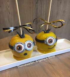 Minion candy apples made by Angelique Bond from the Netherlands
