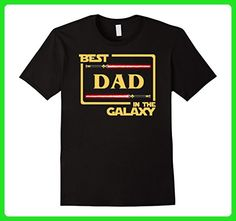 Mens Mens Best Dad In The Galaxy Father's Day Gift T-Shirt 3XL Black - Holiday and seasonal shirts (*Amazon Partner-Link)