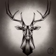 Geometric Stag Tattoo Design by NirvanaOfTime.deviantart.com on @DeviantArt