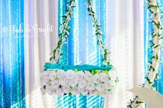 Cradle Ceremony in the sky Boy Birthday Parties, Baby Birthday, Cradle Ceremony, Ceremony Decorations, Party Fashion, Floral Arrangements, Party Themes, Backdrops, Baby Shower