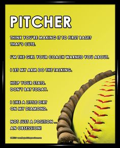 This is the right combination of humor and motivation, making it a unique softball pitcher gift. Girls Softball Quotes, Softball Pitcher Quotes, Softball Things, Softball Pitching, Softball Players, Throw Like A Girl, Girls Be Like, Summer Nails Neon, Cute Gifts For Girls