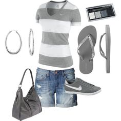 Casual summer...maybe an amusement park day.   polyvore.com