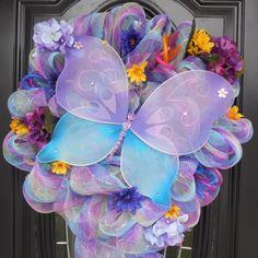 Big butterfly Deco Mesh Wreath