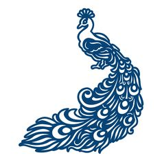 Peacock Tattered Lace *vector*