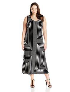 8a6e3e6e251 online shopping for Calvin Klein Women s Plus-Size Printed Maxi Dress from  top store. See new offer for Calvin Klein Women s Plus-Size Printed Maxi  Dress
