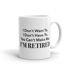 Retirement Gift Retirement Mug Retired Mug by StrictlyBusinessMugs