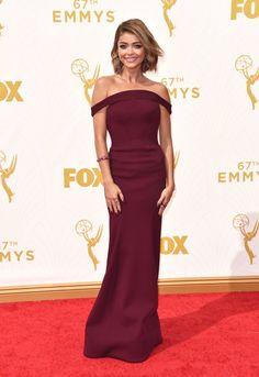 Sarah Hyland Emmys 2015 | Brides.com