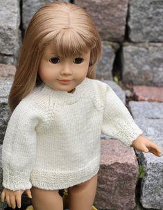Dukkestrikk design Doll Clothes Patterns, Clothing Patterns, American Girl, Knitting Patterns, Dolls, Face, Design, Baby Dolls, Clothes Patterns