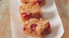 Coconut Cherry Bars