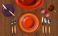Check out my Colorama by Fiesta� customized table setting! Click to create your own.