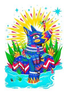 Hoy en fffres.co Vibrante y colorido trabajo de Luis Pinto: Luis pinto es un ilustrador mexicano que actualmente radica en Guatemala cuyo…