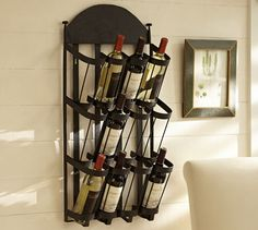 Vintners Wall Mount Wine Rack from Pottery Barn