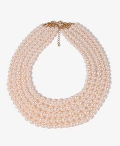 {chunky pearlescent necklace - F21} {I have an extremely similar necklace from ann taylor I love wearing with plain-necked blouses and dresses!}