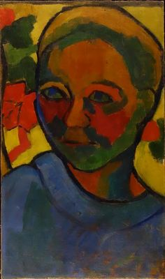 Sonia Delaunay. Finlandaise, 1907. Huile sur toile ; 41 × 24 cm. Aix-en-Provence, Fondation Jean et Suzanne Planque, en dépôt au musée Granet.