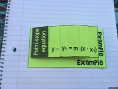"FREEBIE! Get this point-slope foldable for FREE through the ""freebies!"" tab on my Facebook page!"