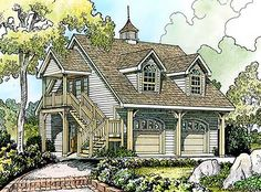 Browse carriage house plans with photos. Compare over 200 plans. Watch walk-through video of home plans. Cottage Style House Plans, Cottage Style Homes, Country House Plans, Cottage Design, Small House Plans, House Floor Plans, Country Farmhouse, Modern Farmhouse, Farmhouse Plans