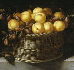 Juan van der Hamen y Leon ~ Still Life with Fruit and Vegetables (detail), 1623