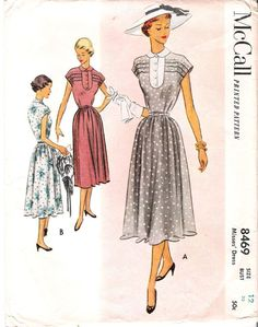 Vintage 1950's Sweet Church Dress, McCall Sewing Pattern #6700