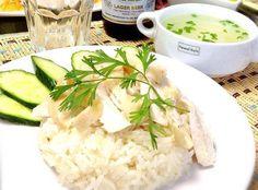 4月レッソン#3:有名なカオマンガイ料理等の作り方