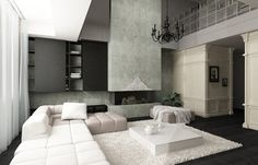 odd mix of traditional (walls) with the other very modern minimalist elements