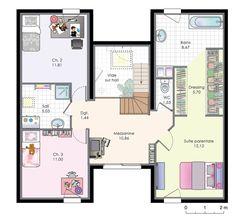 Découvrez les plans de cette maison familiale 9 sur www.construiresamaison.com >>>