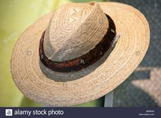 Download this stock image: Hat woven of lauhala leaves is a fine craft in Hawaii. - BM6N43 from Alamy's library of millions of high resolution stock photos, illustrations and vectors. Panama Hat, Vectors, Hawaii, Leaves, Stock Photos, Illustrations, Hats, Image, Hat