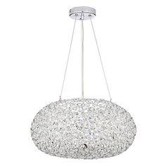 Buy John Lewis Phoebe Crystal Orb Pendant Online at johnlewis.com John Lewis, Chandelier, Bulb, Ceiling Lights, Crystals, Lighting, Pendant, Extension Ideas, Carousel