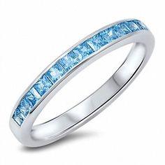 3MM-Wedding-Engagement-Band-Ring-Sterling-Silver-Eternity-Cut-Blue-Aquamarine-CZ