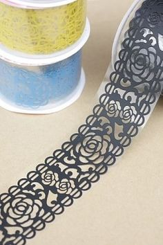 Cute Carved Lace Tape. Transparent lace tape. Oh, the possibilities are endless!