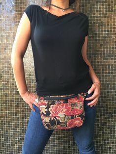 Bolso de Cadera Riñonera Bandolera de diseño: Roses por CAOMKA