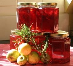 I made some crab apple jelly that looks like this for Christmas presents.