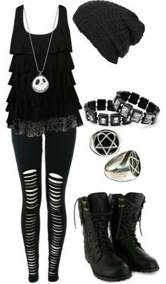 Cute Emo Outfits for Girls – Girl Outfits Cute Emo Outfits, Komplette Outfits, Gothic Outfits, Fashion Outfits, Scene Outfits, Batman Outfits, Polyvore Outfits, Fashion Boots, Punk Rock Outfits